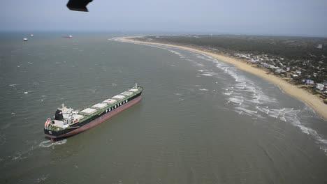 Aerial-Over-A-Shipwreck