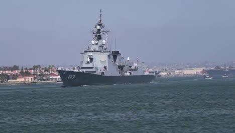 Una-Fragata-De-La-Marina-Japonesa-Llega-Al-Sur-De-California