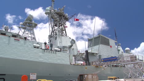 Her-Majestys-Canadian-Ship-Calgary-At-Dock