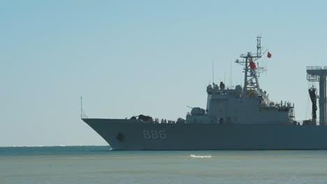 A-Chinese-Navy-Ship-At-Sea