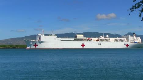 Usns-Mercy-Hospital-Ship-At-Sail