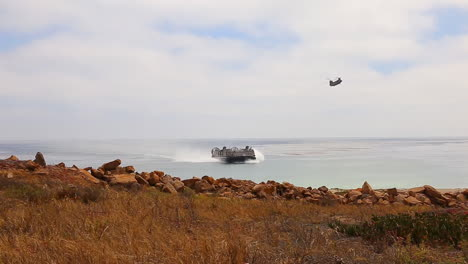 Japanese-Marines-Use-Amphibious-Assault-Craft-For-Landing-On-A-Beach