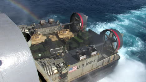 Marine-Forces-Use-Amphibious-Assault-Vehicles-On-The-Ocean