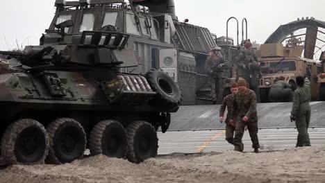 Marine-Forces-Use-Amphibious-Assault-Vehicles-For-A-Beach-Landing-1