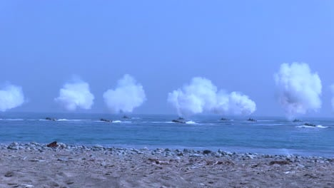 American-And-Korean-Marines-Conduct-A-Massive-Amphibious-Invasion-Exercise-Complete-With-Explosives-And-Beach-Landings-9