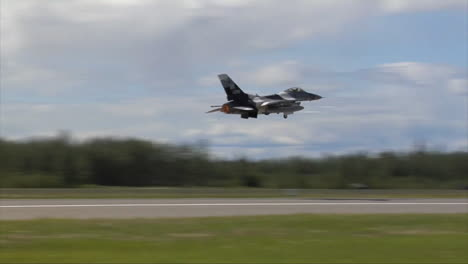 Jet-Aircraft-Takeoff-At-Eielson-Air-Force-Base-In-Alaska-1
