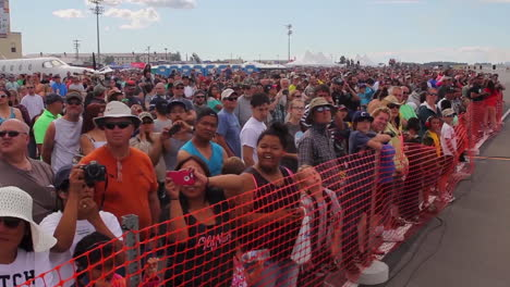 Fans-Watch-Flyovers-At-An-Airshow
