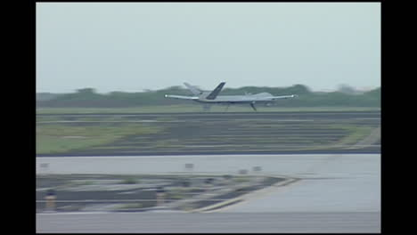The-Rq4-Drone-Surveillance-Aircraft-Takes-Off