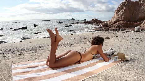 Woman-Relaxing-on-a-Beach-0-11