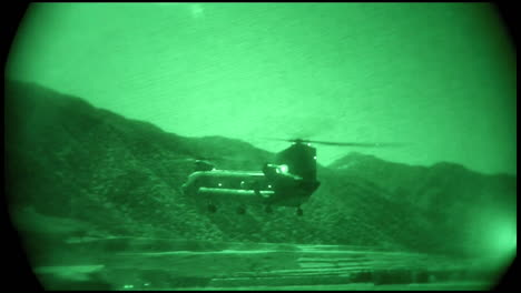 Night-Vision-Footage-Of-Helicopter-Flight-Activity-In-Afghanistan