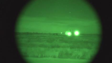 Night-Vision-Footage-Of-Us-Air-Force-C17-Landing