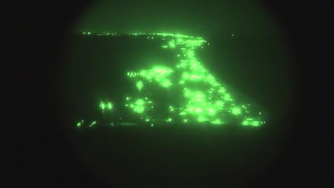 Night-Vision-Of-Osprey-Aircraft-In-Flight
