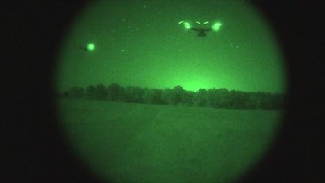 Night-Vision-Of-Osprey-Aircraft-In-Flight-1