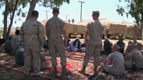Afghan-Role-Players-Engage-With-Marines-In-A-Simulation-Of-Conditions-In-Afghanistan-1
