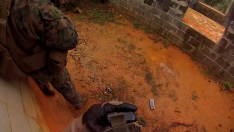 Pov-Go-Pro-Style-Shot-Of-Marines-On-A-Mission-To-Invade-A-Simulated-Terrorist-Compound-2