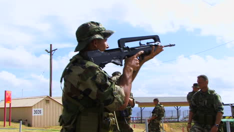 Marines-And-Army-Troops-Train-In-Standard-Clearing-Procedures-In-A-Simulated-Building