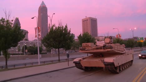 Police-And-Marines-Roll-Out-Tanks-And-Armored-Vehicles-Through-An-American-City-During-Times-Of-Public-Unrest-And-Rioting-6