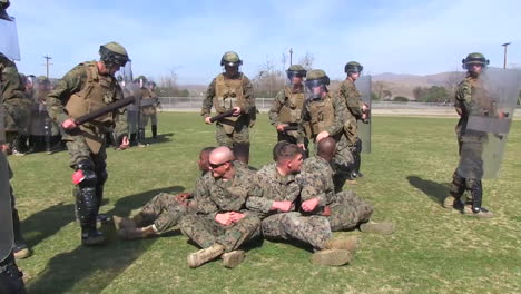 Troops-Practice-Breaking-Up-A-Peaceful-Protest