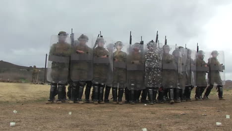 Troops-Practice-A-Defensive-Formation-Against-Rioters-2