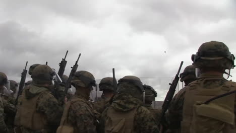 Troops-Practice-Throwing-Tear-Gas-Grenades-And-Then-Shooting-Protestors-In-A-Mock-Exercise