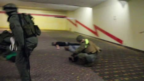 A-Marine-Swat-Team-Performs-A-Simulated-Hostage-Rescue-Mission-3
