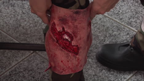 Actors-Participants-In-An-Active-Shooter-Simulation-Put-On-Fake-Blood-And-Wounds
