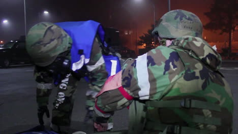 Soldiers-Simulate-A-Mass-Casualty-Event-At-A-Base-In-Korea