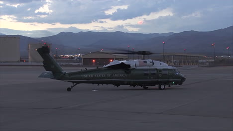 The-Presidential-Helicopter-Taxis-On-A-Runway