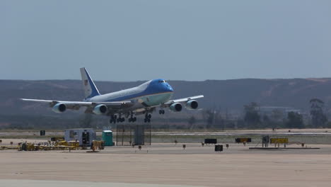 Air-Force-One-Lands-On-An-Airport-Runway