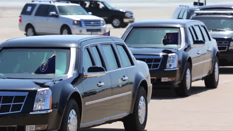 President-Obamas-Motorcade-Arrives-At-Air-Force-One
