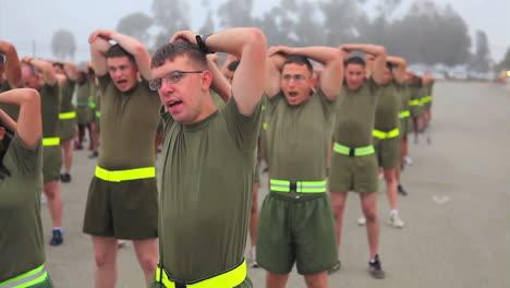 Los-Infantes-De-Marina-En-Entrenamiento-Básico-Pasan-Por-Varios-Ejercicios-De-Entrenamiento-