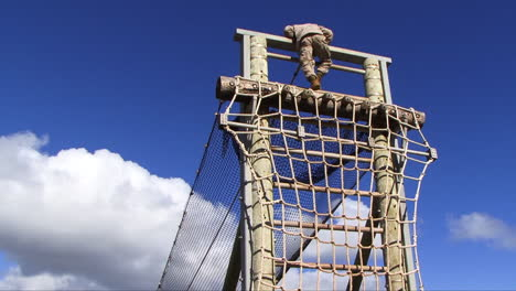 Marines-In-Basic-Training-Go-Through-Various-Workout-Drills-Such-As-Rope-Training