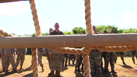 Marines-In-Basic-Training-Go-Through-Various-Workout-Drills-Such-As-Rope-Training-1