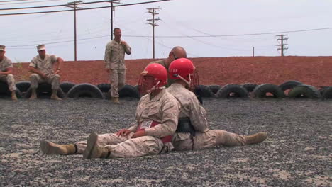 Marines-In-Basic-Training-Learn-Hand-To-Hand-Combat-Techniques-Using-Foam-Bats