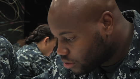 Military-Second-Class-Petty-Officers-Take-A-Test-To-Become-First-Class-Petty-Officers-1