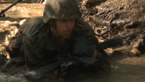 Marines-In-Basic-Training-Compete-In-Various-Workout-Drills-Include-Crawling-Through-Mud