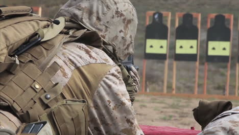 Soldiers-Practice-Firing-Their-Weapons-On-The-Firing-Range