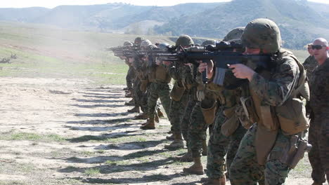 Soldiers-Practice-Firing-Their-Weapons-On-The-Firing-Range-3