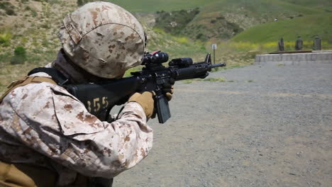 Soldiers-Practice-Firing-Their-Weapons-On-The-Firing-Range-5