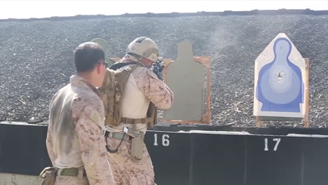 Soldiers-Practice-Firing-Their-Weapons-On-The-Firing-Range-9