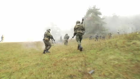 Soldiers-Engage-In-A-Live-Fire-Exercise-On-A-Battlefield-1