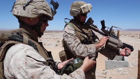 Us-Marines-Fire-The-M32-Multiple-Grenade-Launcher