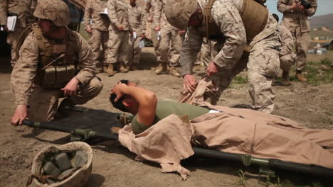 American-Wounded-Undergo-Emergency-Surgery-And-Transportation-To-A-Field-Hospital-During-Battle-1