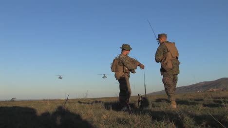 American-Marines-Emerge-From-Osprey-Helicopters-On-A-Simulated-Mission
