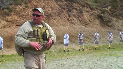 Soldiers-Practice-Firing-Their-Weapons-On-The-Firing-Range-At-Muslim-Targets