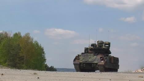 M-1-Abrams-Tank-Moves-Along-A-Road