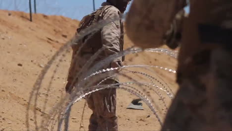 The-Us-Military-Builds-A-Barbed-Wire-Enclosure-To-House-Enemy-Pows