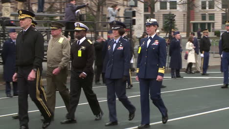 United-States-Veterans-And-Military-Personnel-Walk-In-A-Parade-In-Washington-Dc