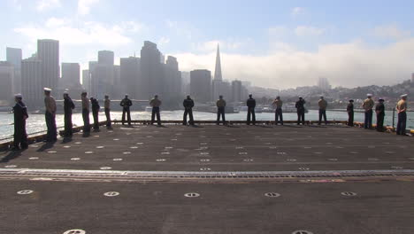 Marines-And-Sailors-Man-The-Rails-As-They-Enter-San-Francisco-Harbor-4