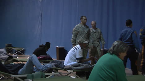 New-Jersey-National-Guard-Troops-Maintain-A-Refugee-Center-For-Hurricane-Sandy-Victims